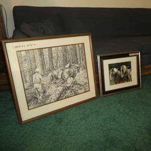 Lot # 170 -  Two Horse Prints By Tom Wolder and Doreen Irwin