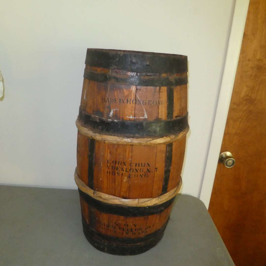 Lot # 177 - Vintage Soy Sauce Barrel  (main image)