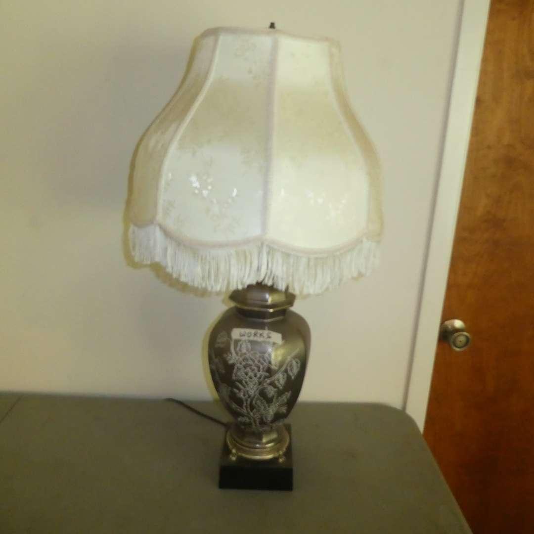 Lot # 178 - Beautiful Lamp w/ Ornate Design (main image)