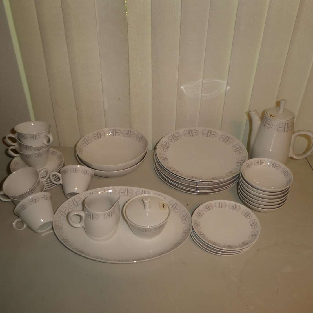 Lot # 182 - Merry-go-Round Franciscan White Stone Flatware (36 Pieces) (main image)