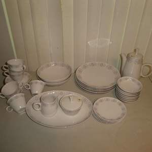 Lot # 182 - Merry-go-Round Franciscan White Stone Flatware (36 Pieces)