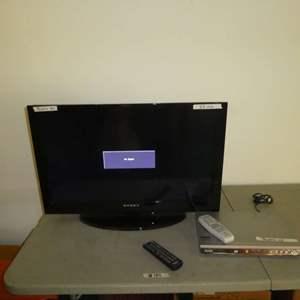 "Lot # 185 - 32"" Dynex LCD TV & Sanyo DVD Player"