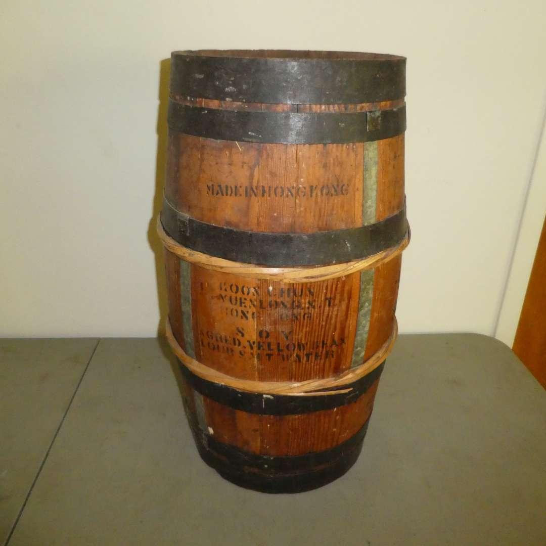 Lot # 187 - Vintage Soy Sauce Barrel  (main image)