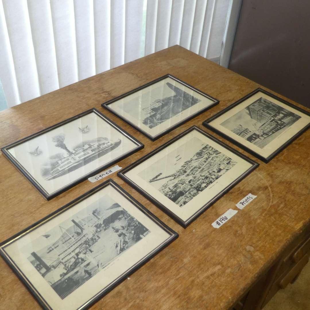Lot # 196 -  Five Prints  (main image)
