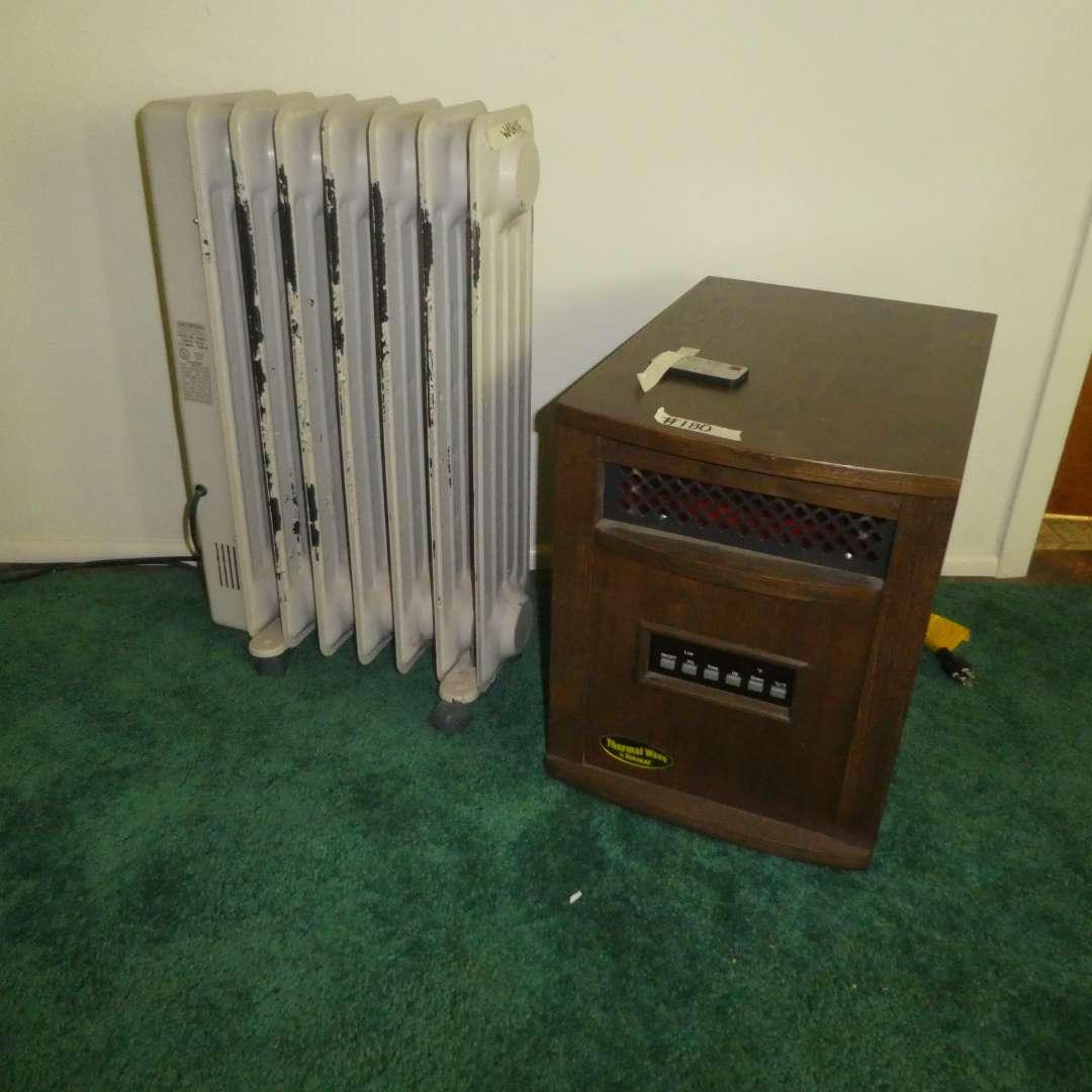 Lot # 180 -  Thermal Wave Electric Heater & Lakewood Radiator Heater  (main image)