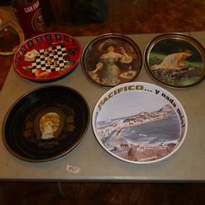 Lot # 65 - Vintage Metal Beer & Pepsi Serving Trays