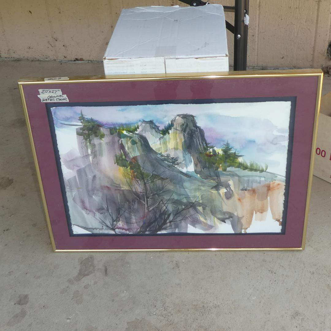 Lot # 69 - Framed Watercolor Painting by Tom Fong (main image)