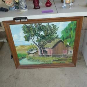 Lot # 71 - Framed Oil on Board by Daryl Orwig (Anderson High School Student of Ray Handel)