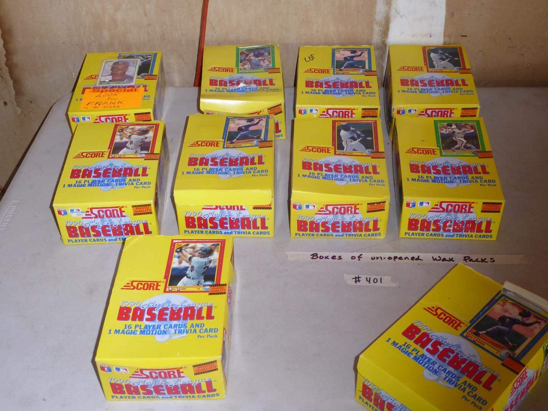 Lot # 401 - 10 Boxes Unopened Wax Packs 1990 Score Baseball Cards (main image)