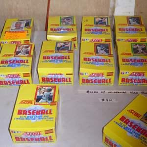 Lot # 401 - 10 Boxes Unopened Wax Packs 1990 Score Baseball Cards