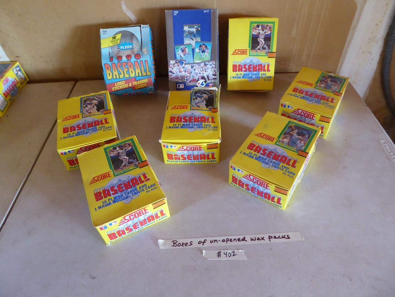 Lot # 402 - 8 Boxes Unopened Wax Packs Baseball Cards (main image)