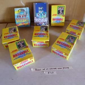 Lot # 402 - 8 Boxes Unopened Wax Packs Baseball Cards