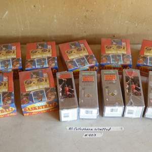 Lot # 403 - 13 Boxes Cellophane Wrapped Basketball Cards
