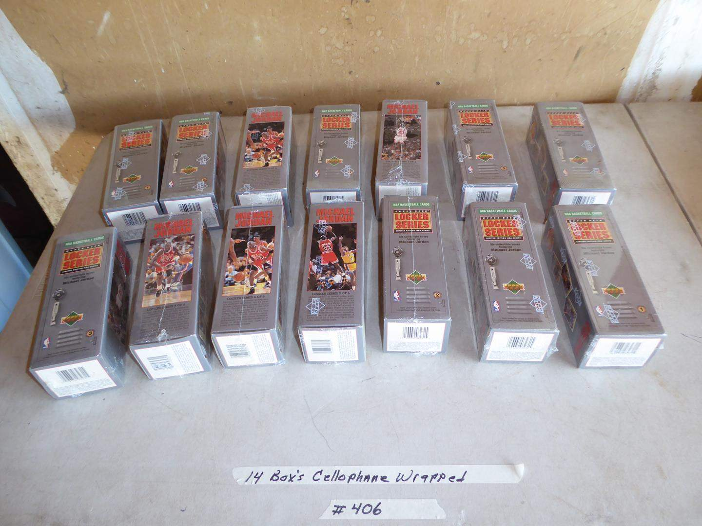 Lot # 406 - 14 Boxes Basketball Cards - Cellophane Wrapped (main image)