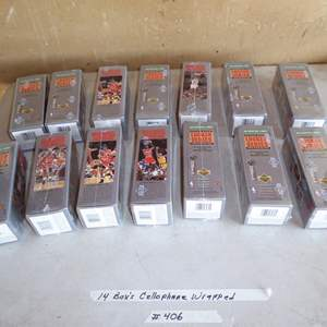 Lot # 406 - 14 Boxes Basketball Cards - Cellophane Wrapped