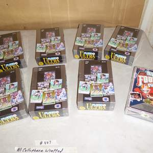 Lot # 407 - 8 Boxes Football Cards - All Cellophane Wrapped