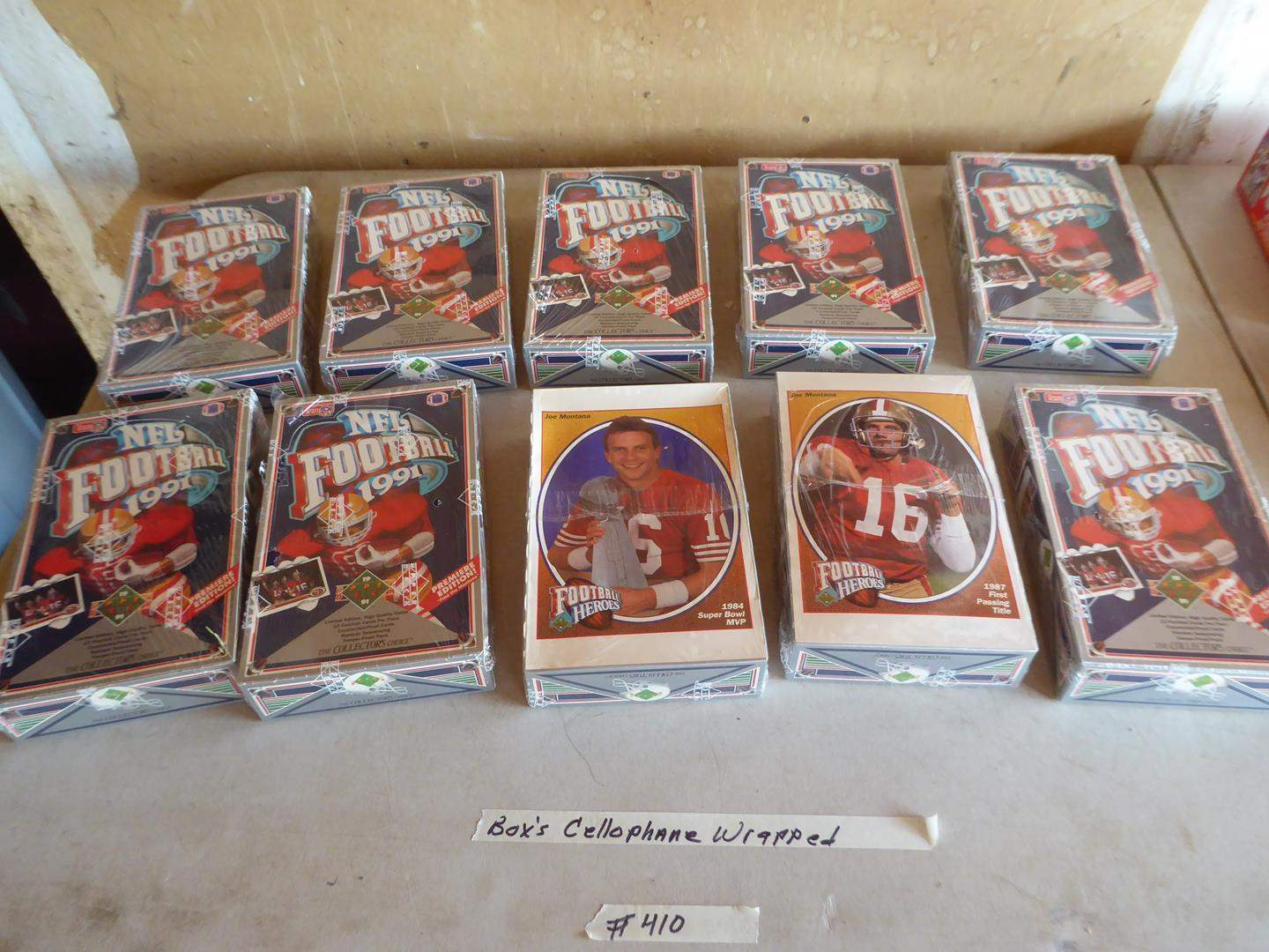 Lot # 410 - 10 Boxes NFL Football Cards (Boxes Cellophane Wrapped) (main image)