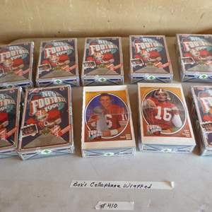 Lot # 410 - 10 Boxes NFL Football Cards (Boxes Cellophane Wrapped)