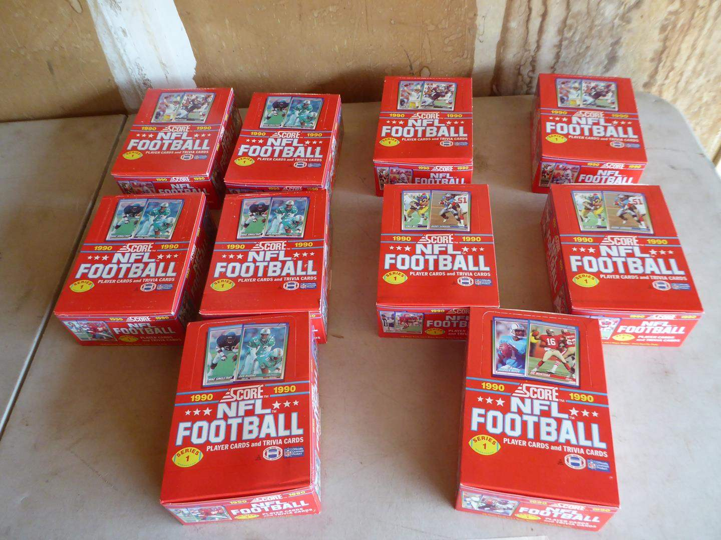 Lot # 411 - 10 Boxes Unopened NFL Football Wax Packs (main image)
