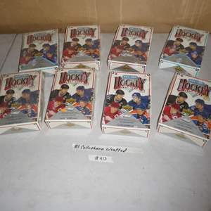 Lot # 413 - Eight Boxes Cellophane Wrapped Hockey Cards 1991-1992