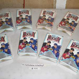 Lot # 414 - Eight Boxes Cellophane Wrapped Hockey Cards 1991-1992