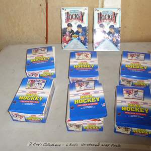 Lot # 422 - 8 Boxes Hockey Cards 1990 -1992 (2 Boxes Cellophane Wrapped & 6 Boxes Unopened Wax Packs)