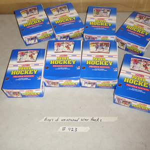 Lot # 423 - 8 Boxes Hockey Cards 1990 Unopened Wax Packs
