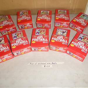 Lot # 424 - 10 Boxes 1990 NFL Football Cards Unopened Wax Packs