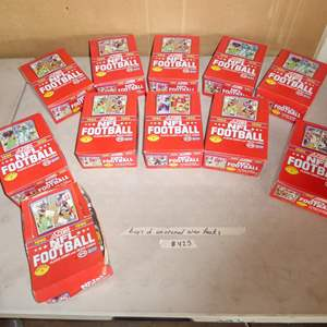 Lot # 425 - 11 Boxes 1990 NFL Football Cards Unopened Wax Packs