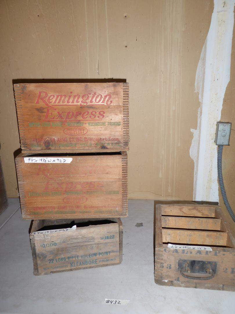 Lot # 432 - Old Wooden Ammunition Crates (main image)