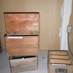 Lot # 432 - Old Wooden Ammunition Crates
