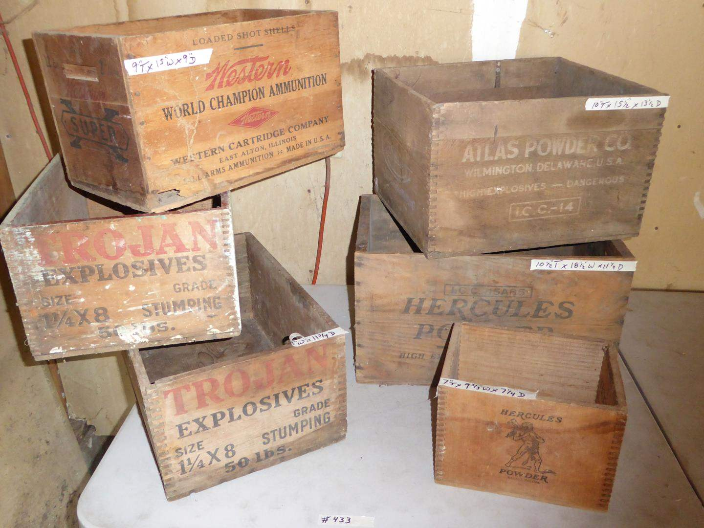 Lot # 433 - Old Wooden Ammunition Crates (main image)