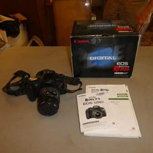 Auction Thumbnail for: Lot # 81 - Canon EOS Rebel Digital Camera (Needs Batteries)