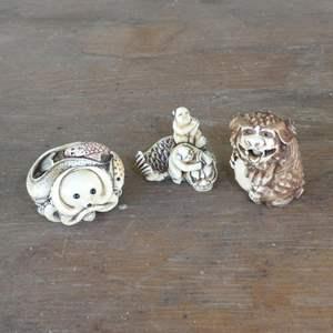 Lot # 99 - Three Authentic Japanese Netsukes