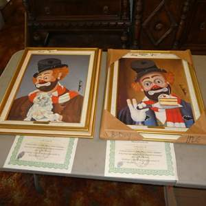 Lot # 111 - Three Framed Red Skelton Limited Edition Prints on Canvas w/Certificates of Authenticity