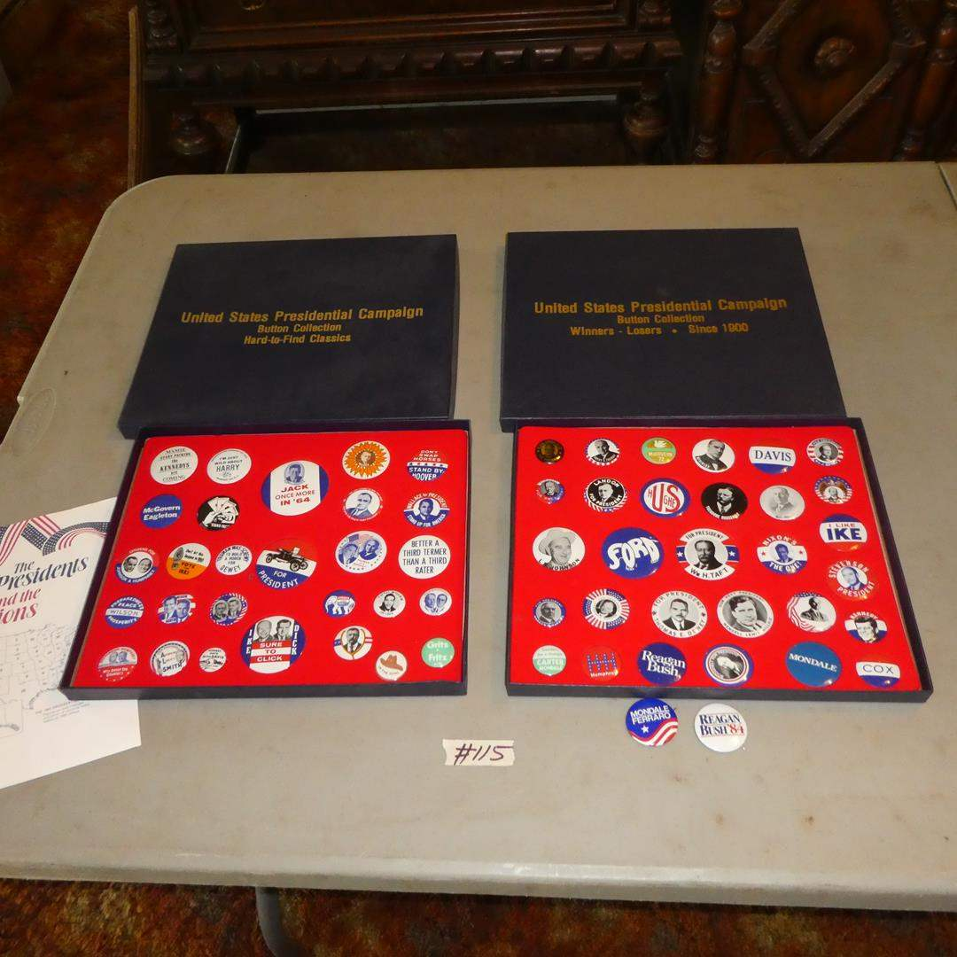 Lot # 115 - United States Presidential Campaign Buttons Collection (main image)