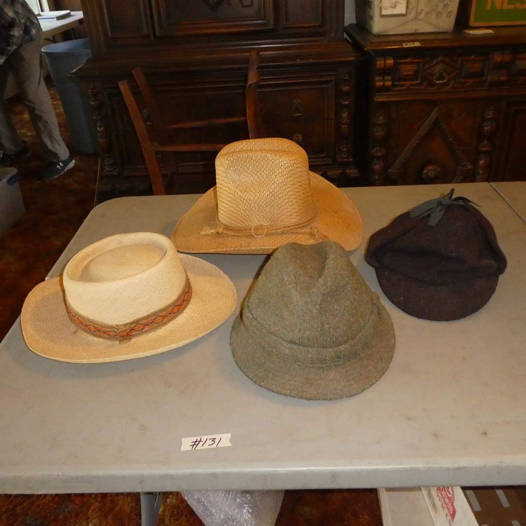 Lot # 131 - Four Vintage Men's Hats (main image)
