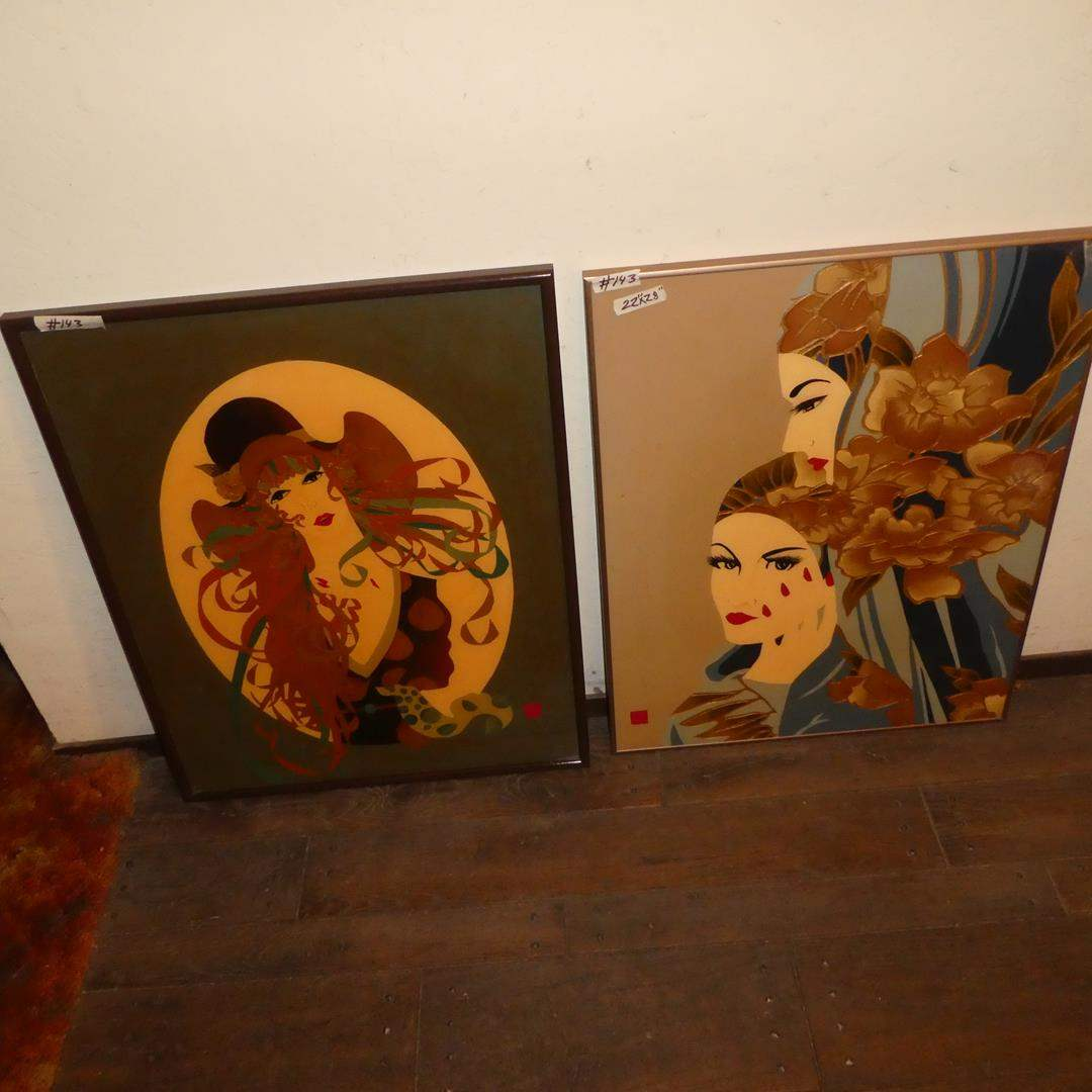 Lot # 143 - 2 Amazing Enamel & Lacquer  Framed Art Prints (One Numbered 2/300) (main image)