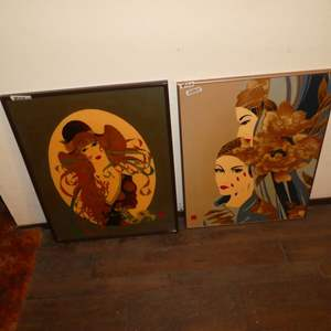 Lot # 143 - 2 Amazing Enamel & Lacquer  Framed Art Prints (One Numbered 2/300)