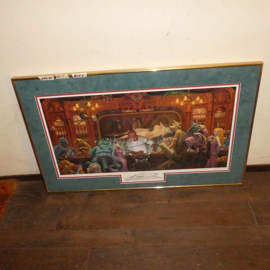 "Lot # 145 - James Warhola ""Visitor's Night"" Framed Signed  Limited Edition Print 45/150 (main image)"