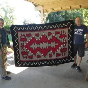 Lot # 291 - Large Vintage Navajo Rug