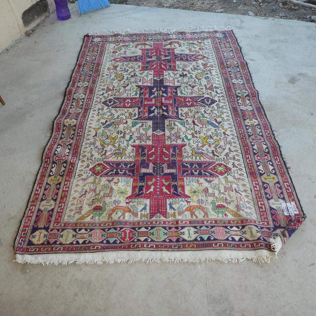 Lot # 292 - Large Vintage South American Handwoven Rug (main image)