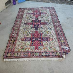 Lot # 292 - Large Vintage South American Handwoven Rug