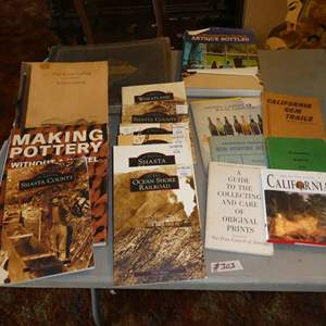 Lot # 303 - California History Books, Bottle Collecting Book, Making Pottery & 1879 Yuba County California w/Illustrations Book