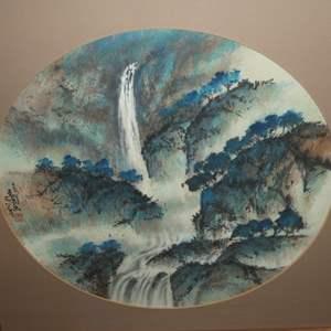 Lot # 310 - Framed Original Chinese Watercolor Painting by Daniel Wang
