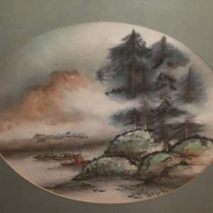Lot # 311 - Framed Original Chinese Watercolor Painting by Daniel Wang