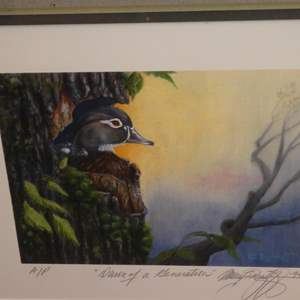 """Lot # 320 - Actor from """"MASH""""  Signed Artist Prof Print """"Dawn Of A Generation"""" by Gary Burghoff (Actor/Director/Wildlife Artist)"""