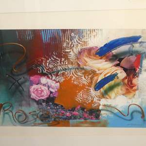 """Lot # 322 - Framed Enhanced Print """"Roses"""" by Emily Summers"""