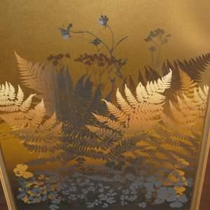 "Lot # 325 - Framed Signed Lithograph ""Ferns"" by Bennett"