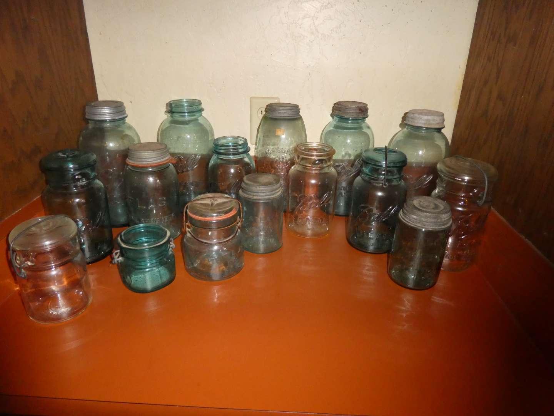 Lot # 1 - Vintage Canning Jars (main image)